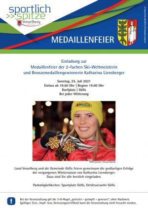 Einladung Medaillenfeier KL